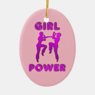 Girl Power Martial Arts Sparring Females Ornament