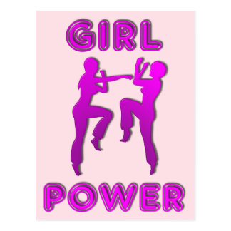 Girl Power Martial Arts Sparring Females Postcard
