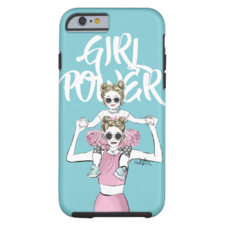 Girl Power mom and daughter iphone case