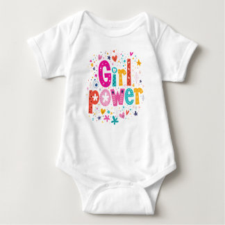 Girl Power Playful Heart by Mini Brothers Baby Bodysuit