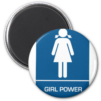 Girl Power Restroom Door Refrigerator Magnet