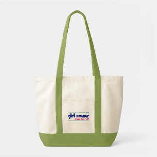 Girl Power - Sarah Palin for VP Green/White Tote