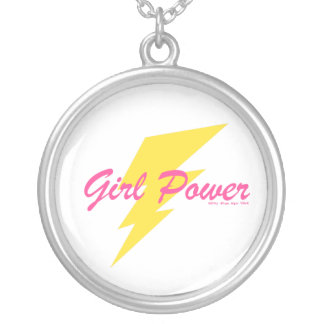 GIRL POWER SILVER PLATED NECKLACE