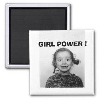 GIRL POWER ! SQUARE MAGNET