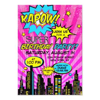 Girl Power Super Hero Comic Book Birthday Card