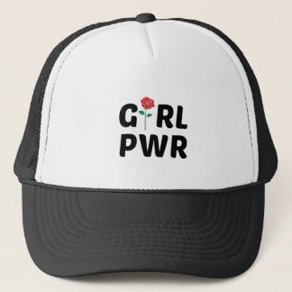 Girl Power with Rose Logo Trucker Hat