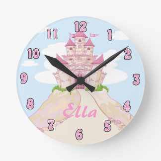 Girl Princess Castle Clock