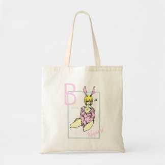 Girl Rabbit Pink nice reason banana Tote Bag