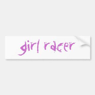 girl racer bumper sticker