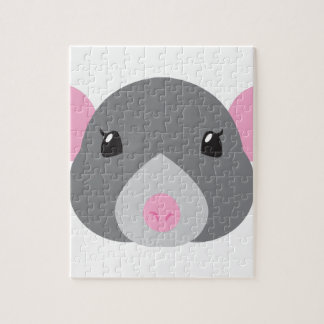 girl rat face grey jigsaw puzzle