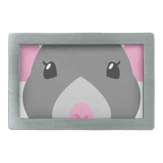 girl rat face grey rectangular belt buckles