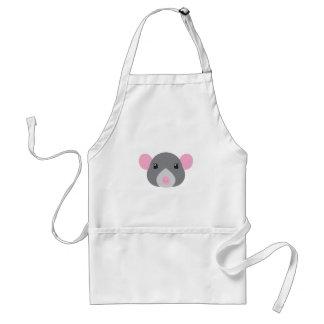 girl rat face grey standard apron