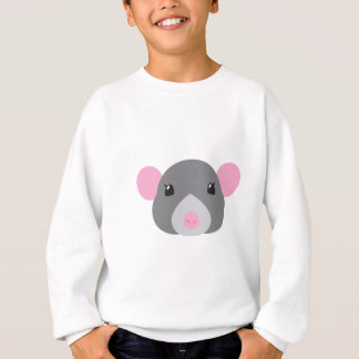 girl rat face grey sweatshirt