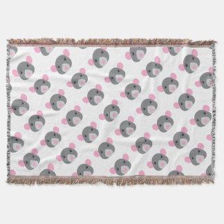girl rat face grey throw blanket