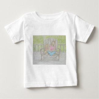 girl reading baby T-Shirt