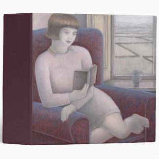 Girl Reading in Armchair 2009 Binders