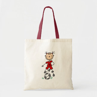 Girl Red Soccer Uniform Tote Bag