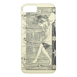 Girl Relaxing and Daydreaming Vintage iPhone 7 Case