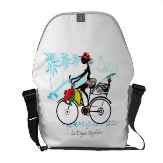 Girl riding La Digue Commuter Bag