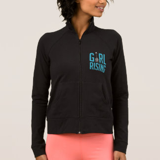 Girl Rising Black Zip Up Hoodie Sweat Shirt