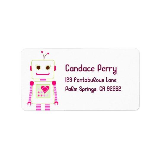 Girl Robot Address Labels