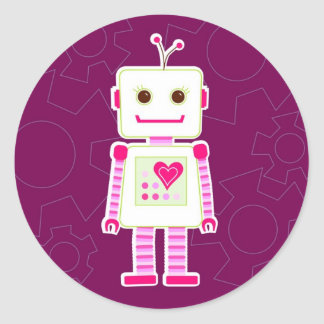 Girl Robot Stickers