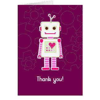 Girl Robot Thank You Cards