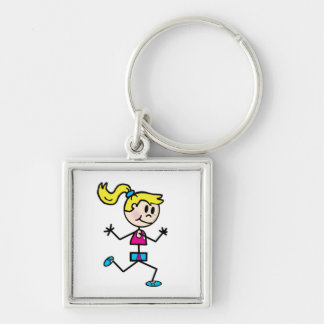 Girl Runner Key Chain