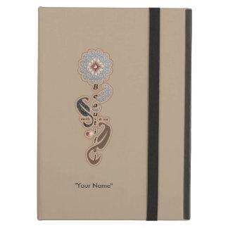 "Girl's ""Beautiful Self-Love Diamond Flower"" iPad Air Covers"