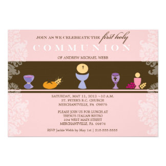 Girl s First Communion Invitation