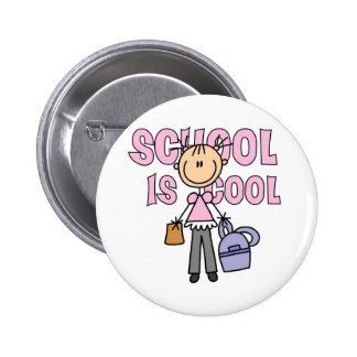 Girl School is Cool 2 Inch Round Button