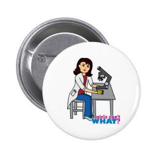 Girl Scientist - Medium Pinback Buttons