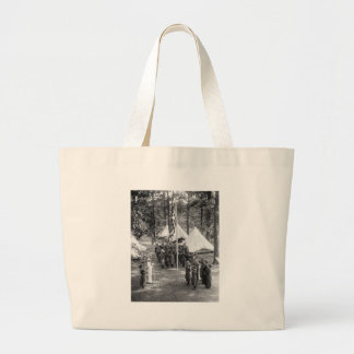 Girl Scout Flag-Raising: 1919 Canvas Bag