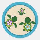 GIRL Sea TURTLE Baby Shower (Honu)04B Seal Sticker