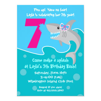 Girls 7th Birthday Party Invitations & Announcements ...