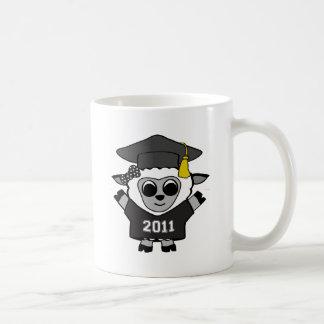 Girl Sheep Black & White 2011 Grad Coffee Mug
