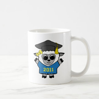 Girl Sheep Blue & Gold 2011 Grad Coffee Mug
