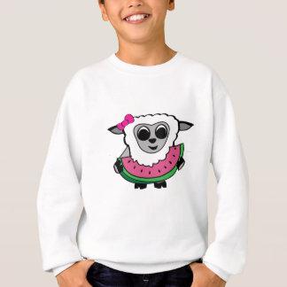 Girl Sheep Eating Watermelon Sweatshirt