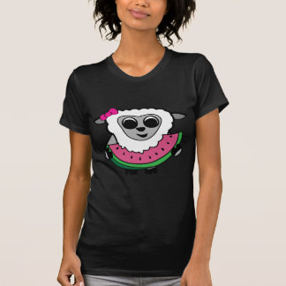 Girl Sheep Eating Watermelon T-Shirt