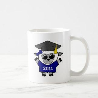 Girl Sheep Navy & White 2011 Grad Coffee Mug