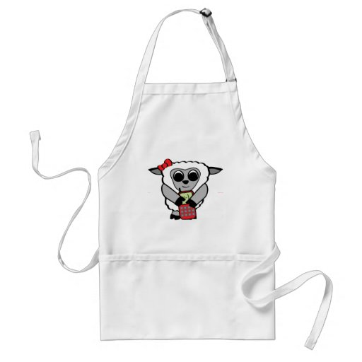 Girl Sheep with Cellphone Aprons