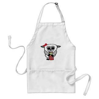 Girl Sheep with Cellphone Standard Apron