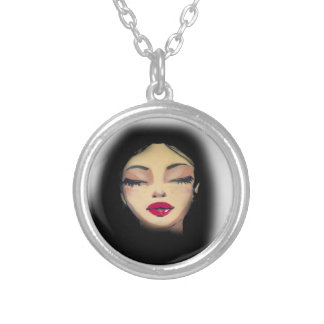 Girl Silver Plated Necklace