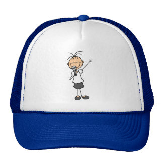 Girl Singer Stick Figure Hat