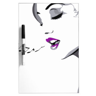 Girl Singing Dry Erase White Board