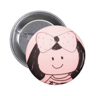 Girl sketch 2 inch round button