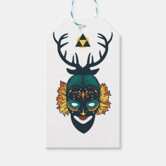 girl skull with deer antin gift tags