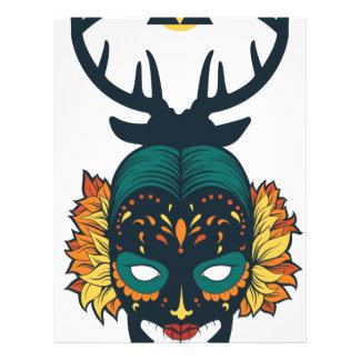 girl skull with deer antin letterhead