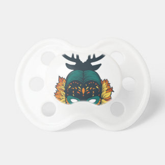 girl skull with deer antin pacifier
