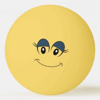 Girl Smiley Face Ping Pong Ball